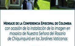 Iglesia agradeció gesto de entronización e la Virgen de Chiquinquirá en el Vaticano.